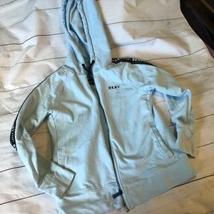DKNY Hoody Robins Egg Blue Size Small